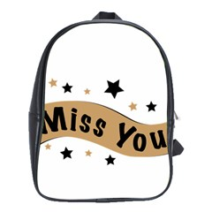 Lettering Miss You Banner School Bag (xl) by BangZart