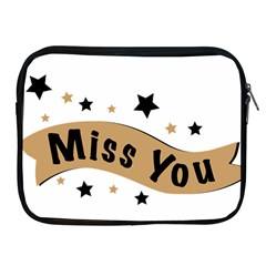 Lettering Miss You Banner Apple Ipad 2/3/4 Zipper Cases