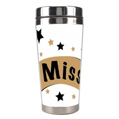 Lettering Miss You Banner Stainless Steel Travel Tumblers