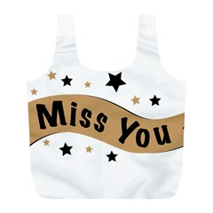 Lettering Miss You Banner Full Print Recycle Bags (l)