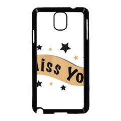 Lettering Miss You Banner Samsung Galaxy Note 3 Neo Hardshell Case (black)