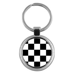 Grid Domino Bank And Black Key Chains (round)