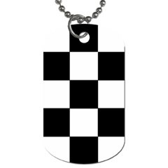 Grid Domino Bank And Black Dog Tag (one Side)