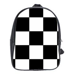 Grid Domino Bank And Black School Bag (xl)