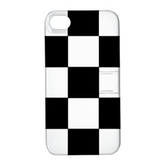 Grid Domino Bank And Black Apple Iphone 4/4s Hardshell Case With Stand by BangZart