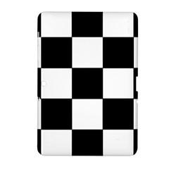 Grid Domino Bank And Black Samsung Galaxy Tab 2 (10 1 ) P5100 Hardshell Case
