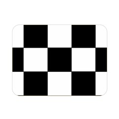 Grid Domino Bank And Black Double Sided Flano Blanket (mini)