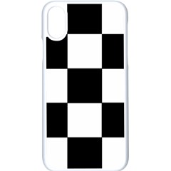 Grid Domino Bank And Black Apple Iphone X Seamless Case (white)