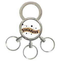 Einladung Lettering Invitation Banner 3 Ring Key Chains