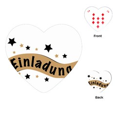 Einladung Lettering Invitation Banner Playing Cards (heart)