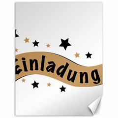 Einladung Lettering Invitation Banner Canvas 12  X 16