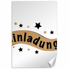 Einladung Lettering Invitation Banner Canvas 20  X 30