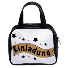 Einladung Lettering Invitation Banner Classic Handbags (2 Sides) by BangZart