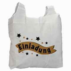 Einladung Lettering Invitation Banner Recycle Bag (one Side)