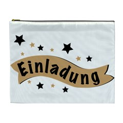 Einladung Lettering Invitation Banner Cosmetic Bag (xl)