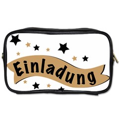 Einladung Lettering Invitation Banner Toiletries Bags 2 Side