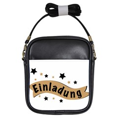 Einladung Lettering Invitation Banner Girls Sling Bags