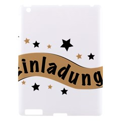 Einladung Lettering Invitation Banner Apple Ipad 3/4 Hardshell Case