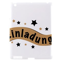 Einladung Lettering Invitation Banner Apple Ipad 3/4 Hardshell Case (compatible With Smart Cover)