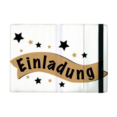 Einladung Lettering Invitation Banner Apple Ipad Mini Flip Case by BangZart