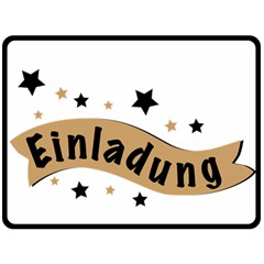 Einladung Lettering Invitation Banner Double Sided Fleece Blanket (large)  by BangZart