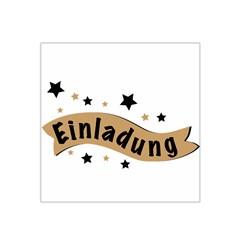 Einladung Lettering Invitation Banner Satin Bandana Scarf