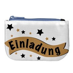 Einladung Lettering Invitation Banner Large Coin Purse