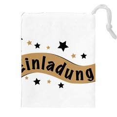 Einladung Lettering Invitation Banner Drawstring Pouches (xxl)