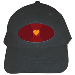 Heart Red Yellow Love Card Design Black Cap by BangZart