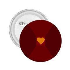 Heart Red Yellow Love Card Design 2 25  Buttons by BangZart
