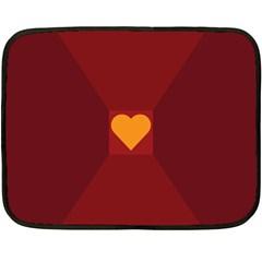 Heart Red Yellow Love Card Design Fleece Blanket (mini)
