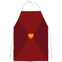 Heart Red Yellow Love Card Design Full Print Aprons
