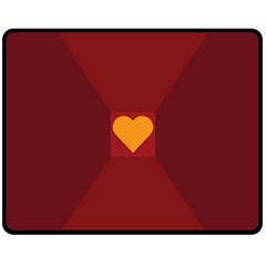 Heart Red Yellow Love Card Design Fleece Blanket (medium)  by BangZart