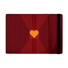 Heart Red Yellow Love Card Design Apple Ipad Mini Flip Case by BangZart