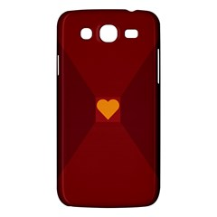Heart Red Yellow Love Card Design Samsung Galaxy Mega 5 8 I9152 Hardshell Case  by BangZart