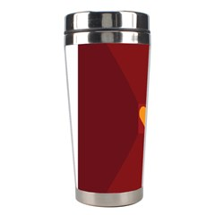 Heart Red Yellow Love Card Design Stainless Steel Travel Tumblers by BangZart