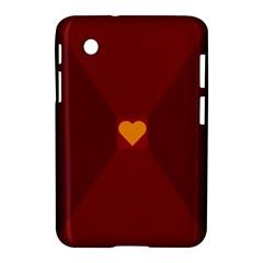 Heart Red Yellow Love Card Design Samsung Galaxy Tab 2 (7 ) P3100 Hardshell Case