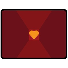 Heart Red Yellow Love Card Design Double Sided Fleece Blanket (large)  by BangZart