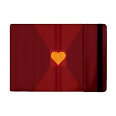 Heart Red Yellow Love Card Design Ipad Mini 2 Flip Cases