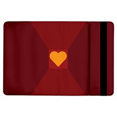 Heart Red Yellow Love Card Design Ipad Air Flip by BangZart