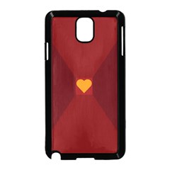 Heart Red Yellow Love Card Design Samsung Galaxy Note 3 Neo Hardshell Case (black)