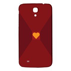 Heart Red Yellow Love Card Design Samsung Galaxy Mega I9200 Hardshell Back Case by BangZart