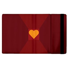 Heart Red Yellow Love Card Design Apple Ipad Pro 12 9   Flip Case by BangZart