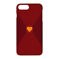 Heart Red Yellow Love Card Design Apple Iphone 7 Plus Hardshell Case