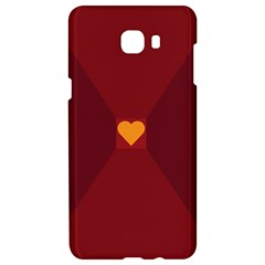Heart Red Yellow Love Card Design Samsung C9 Pro Hardshell Case  by BangZart