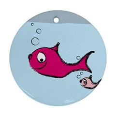 Fish Swarm Meeresbewohner Creature Ornament (round)