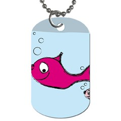 Fish Swarm Meeresbewohner Creature Dog Tag (two Sides)