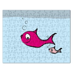 Fish Swarm Meeresbewohner Creature Rectangular Jigsaw Puzzl
