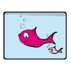 Fish Swarm Meeresbewohner Creature Fleece Blanket (small)