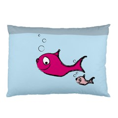 Fish Swarm Meeresbewohner Creature Pillow Case (two Sides) by BangZart